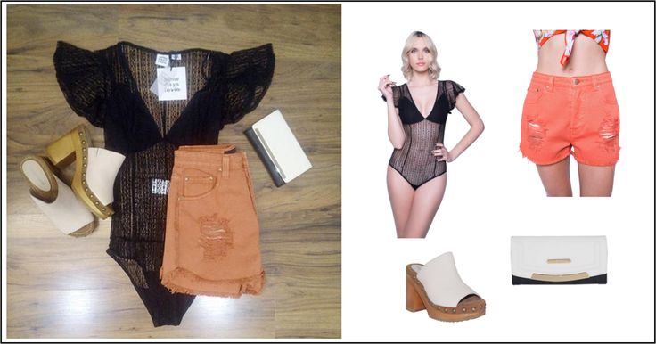 Be sexy with this #ootd #bodysuit by @favelaforjc ! Κορμάκι: http://mikk.ro/UAf  Τζιν σορτς: http://mikk.ro/UAk Πορτοφόλι LYDC: http://mikk.ro/UAg Clogs: http://mikk.ro/UAh