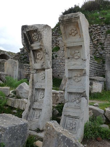 stone vault fragments from Temple of Domitian, Ephesus