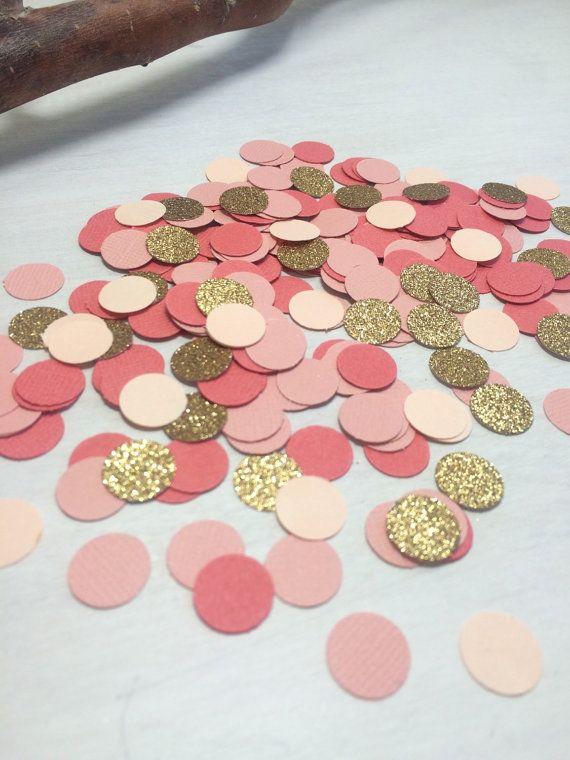 1 000 coral Peach & or paillettes confettis par ConfettiGirls