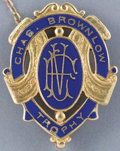 "The Chas Brownlow Medal , awarded to the ""fairest and best"" player in the Australian Football League, better known as Aussie Rules, sold for AU$203,660 on August 24 2011"