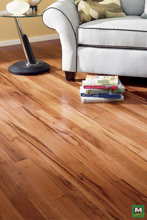 For An Upscale, Contemporary Feeling, Try Great Lakes Wood Floors Natural  Tigerwood Engineered Hardwood