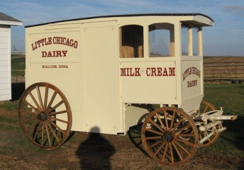 Image detail for -Horse Drawn Milk Delivery Wagon (Horse Powers)
