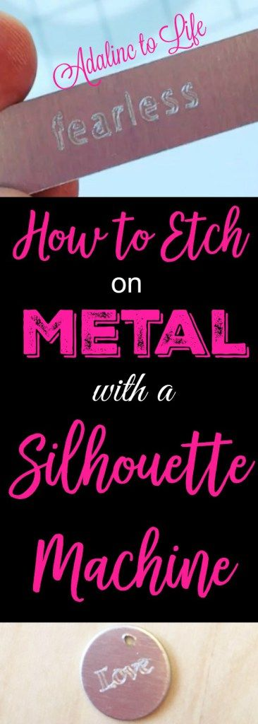 How to etch on metal with a silhouette curio machine.