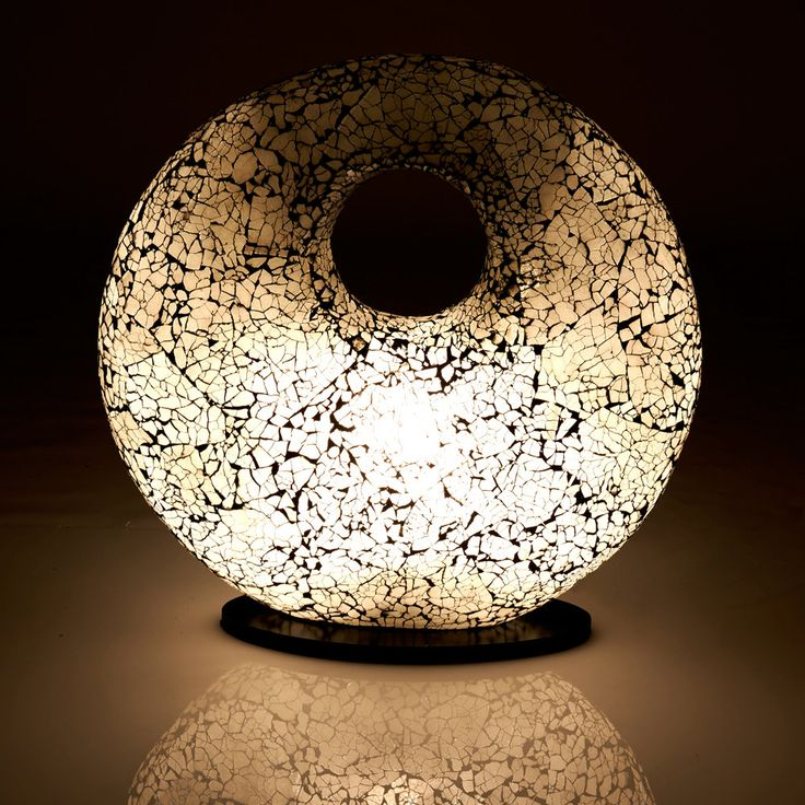Stunning frosted glass lamp in unique torus shape by Collectiviste on Etsy