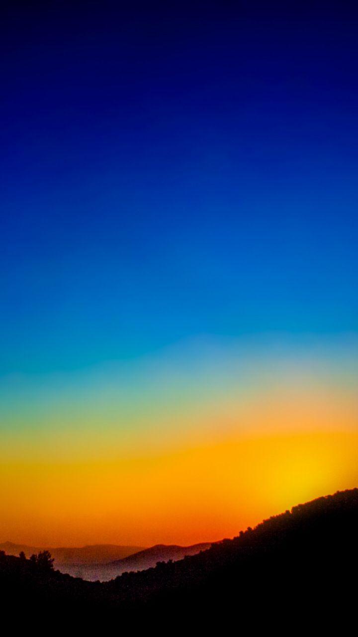 Twilight Sunrise Sky Minimal 720x1280 Wallpaper Beautiful Photography Nature Sunset Landscape Sunrise Painting
