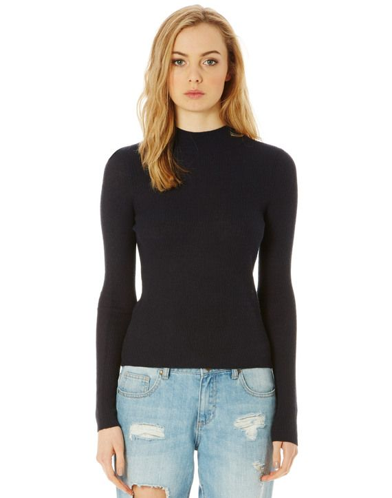High Neck Knit Top
