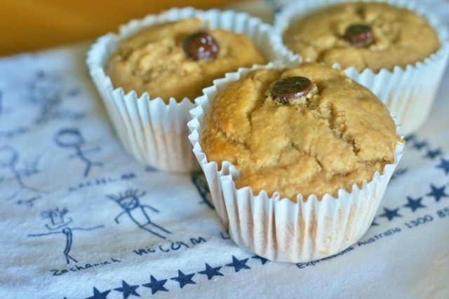 Great Lunchbox Fillers.  Thermomix banana choc-chip muffins
