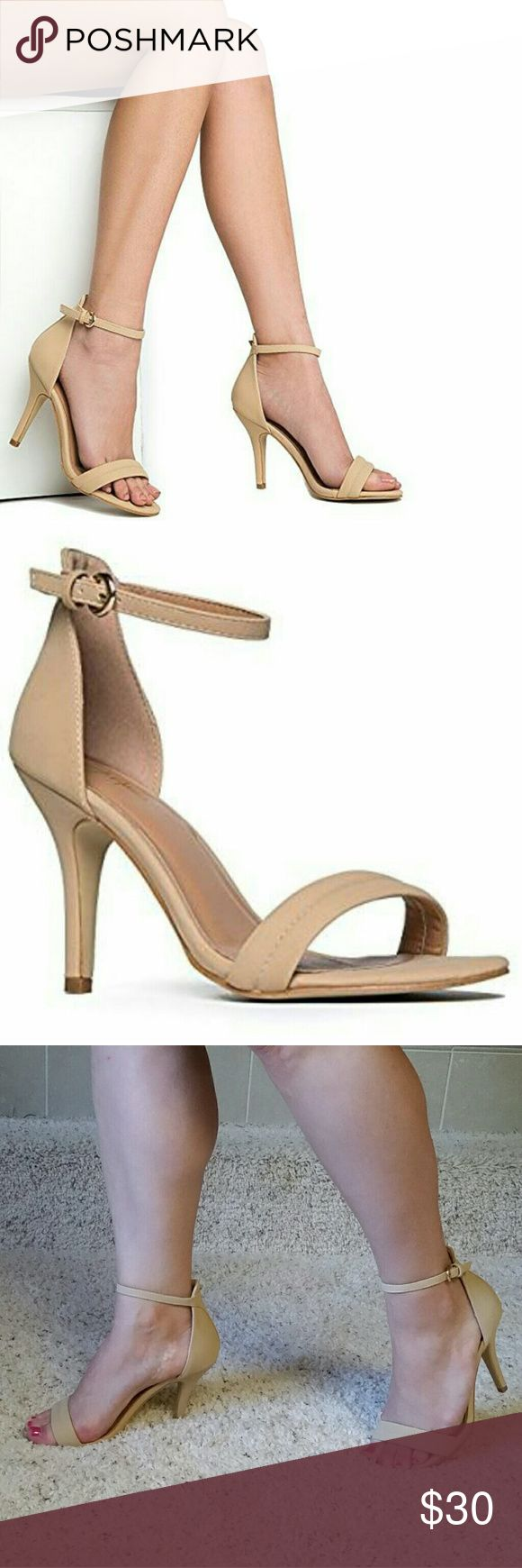J. Adams Grammy nude strappy high heels Gorgeous new j. Adams nude slim strappy heels. Perfect elegant dress heels. Size 8 Forever 21 Shoes Heels