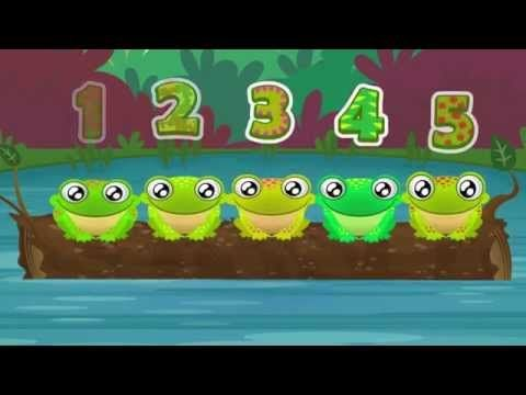 ▶ 5 Green and Speckled Frogs | Song for Children - YouTube