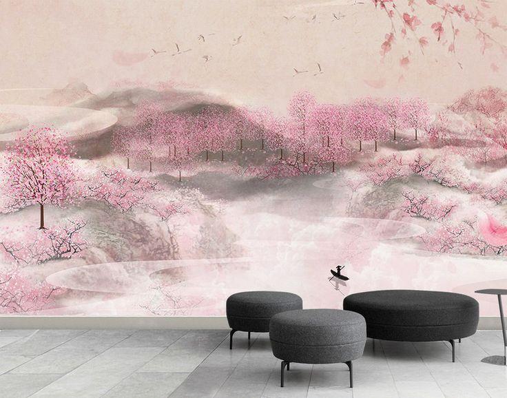 23 best Papier peint du0027artiste peinture asiatique - les fleurs et