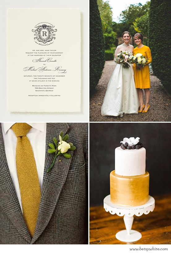 Inspiration: Rich Mustard Vows--Love this, the bridesmaid looks straight out of the 60's, dress, hair and shoes!  All so classy!