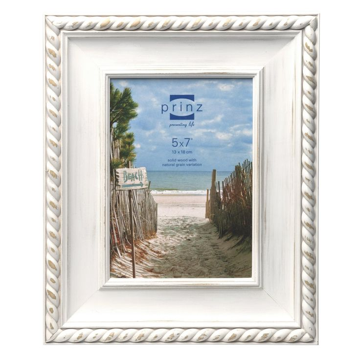 amazoncom prinz eastport wash wood frame for 5 by 7 inch photo