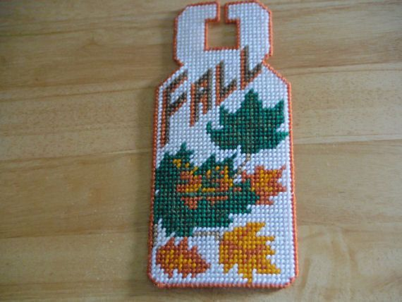 Door Hanger Fall Sign fall decor Leaves On Door by ShanaysCreation