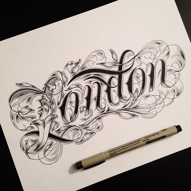 By raul alejandro kalligrafie lettering pinterest Calligraphy fonts for tattoos