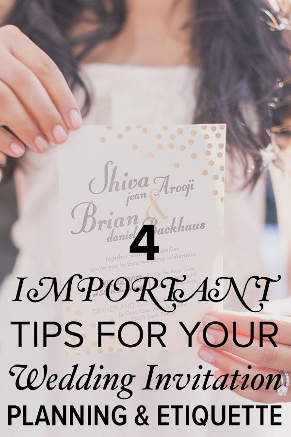 Wedding advice 4 important tips for invitation