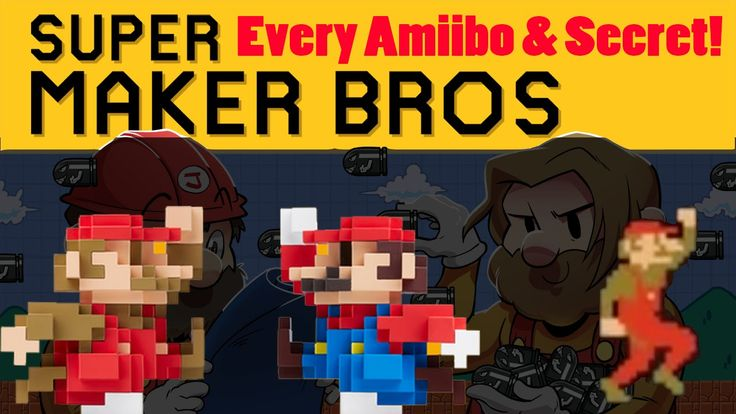 Super Mario Maker - ALL AMIIBO COSTUMES & SECRETS REVEALED