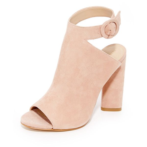 KENDALL + KYLIE Gigi II Heels found on Polyvore featuring shoes, heels, pink, boots, high heeled footwear, genuine leather shoes, pink leather shoes, leather high heel shoes and cut-out shoes