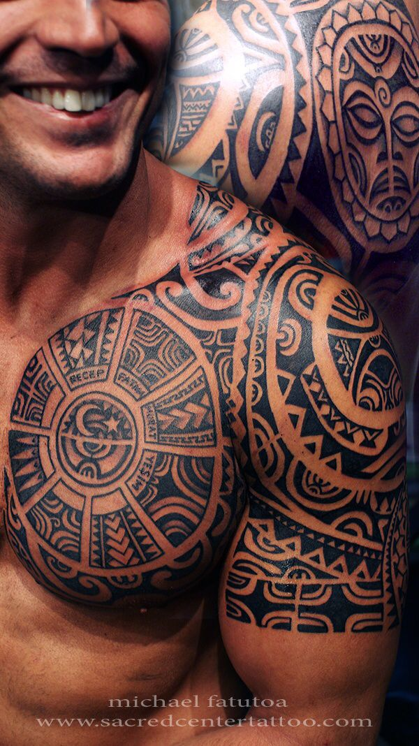 Tribal shoulder tattoo for men                                                                                                                                                      More