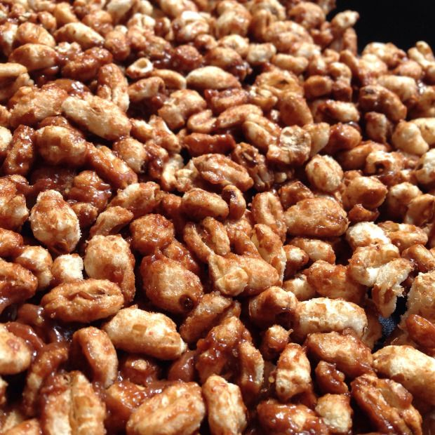 Puffed wheat cake made healthy pamhorvath | Without struggle there will be no success