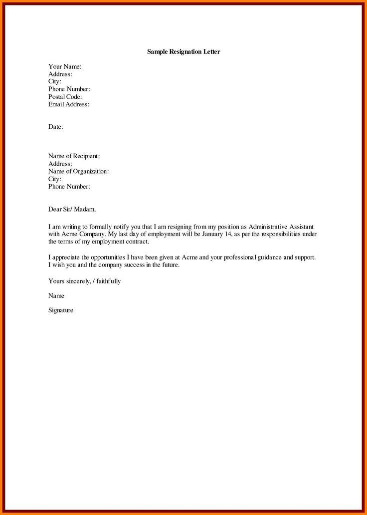 Cover Letter Resignation Letter Microsoft Word