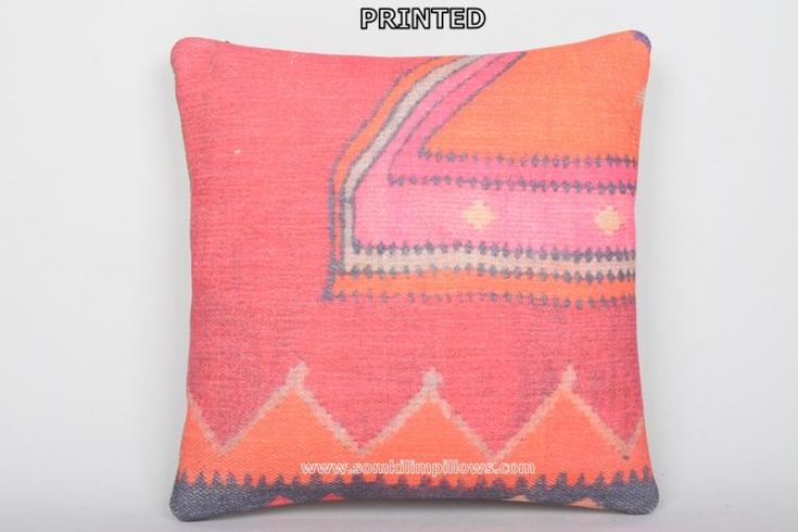 Kilim Pillow Covers Geographical Throw