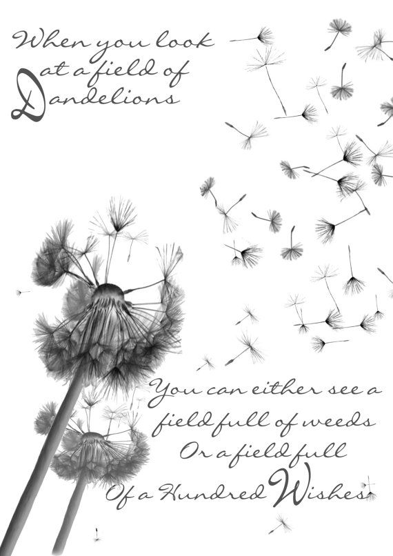 Dandelion Wishes Quote Anniversary by The Sewing Croft. www.thesewingcroft.com