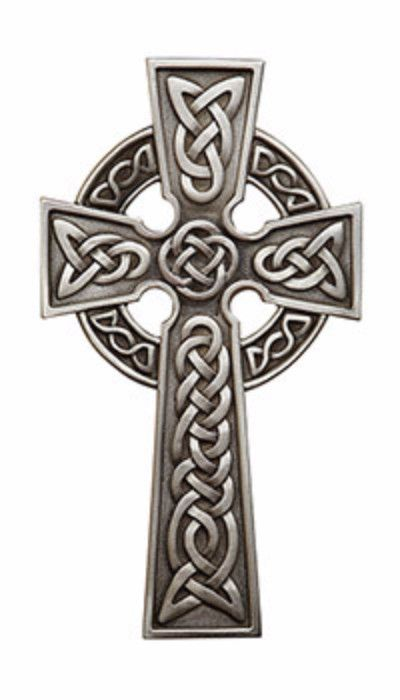 Beautiful Irish Celtic Wall Cross. This Cross has the traditional Irish knots. Made of resin and hand painted silver color accents to bring out the beauty of the cross. Made with lead free pewter Meas                                                                                                                                                      More