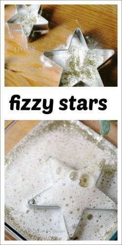 A sparkly, fun science experiment for the kids - playful and hands-on learning. Perfect for a space theme, a night sky theme, or just because!