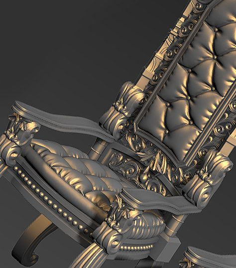 Gothic chair, HyungHo Jang on ArtStation at https://www.artstation.com/artwork/gothic-chair