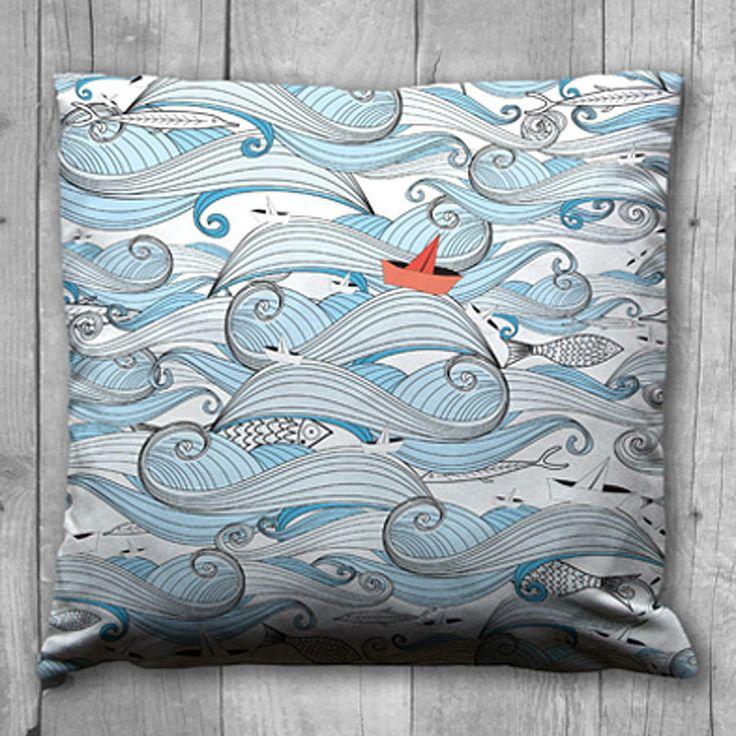 'riding the waves' cushion by karen miller @ devon driftwood designs | notonthehighstreet.com