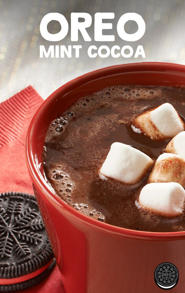 Warm up this winter with a minty take on a sweet classic. OREO Mint Cocoa makes for a cozy drink the whole family can enjoy.