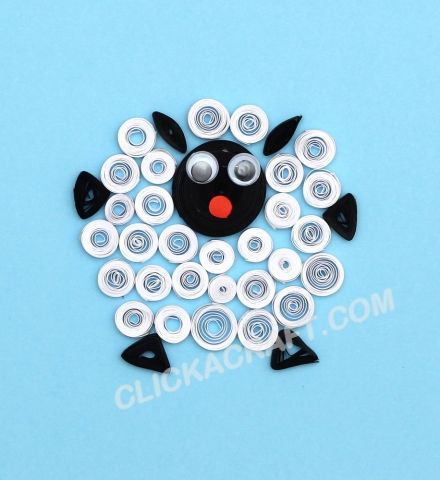 Quilling Sheep - Click on image to see step-by-step tutorial.