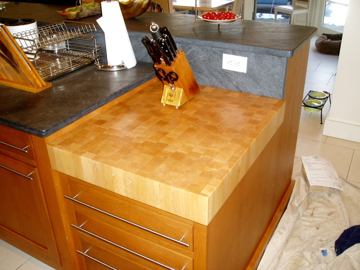 really want a butcher block counter top doubling as a cutting board in