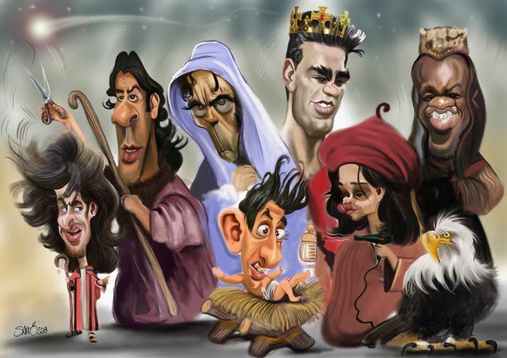 CARICATURAS.BLOGSPOT.COM: Caricatura, Cartoon, Ilustração, Sketches do Caricaturista Nelson Santos: Presépio da Luz