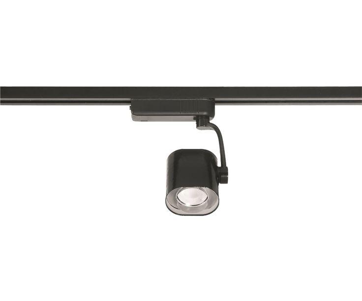 LEDlux Action 1 Light Black Dimmable Oval Track Spot in Warm White | LED Lighting | Lighting