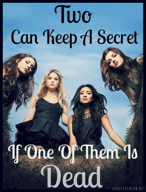 "Still trying to figure out what this means. ""Two can keep a secret if one of them is dead"" ? Ahh someone help me"
