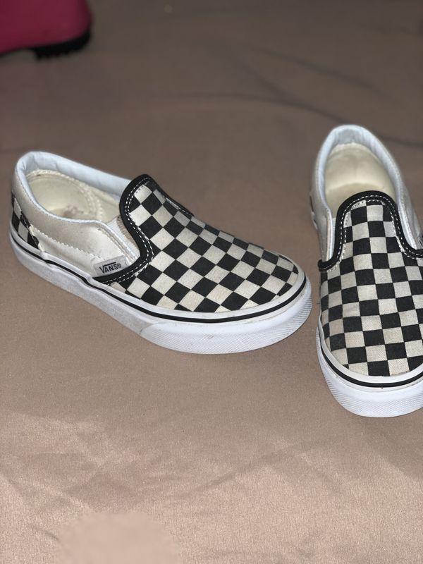 Checkered shoes, Vans, Vans slip