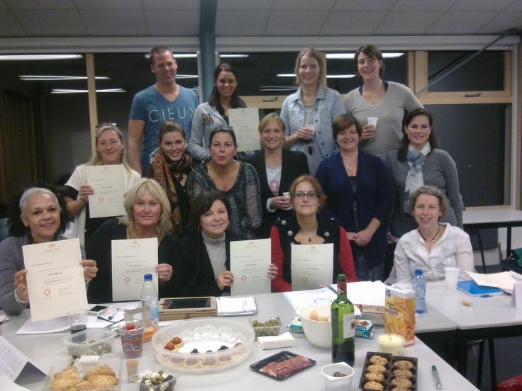 De klas Spaans voor beginners 1 in Breda met docente Bea (november 2012).