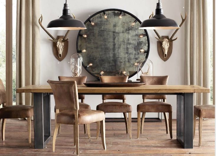 147 best restoration hardware images on pinterest dining rooms dining room tables and modern. Black Bedroom Furniture Sets. Home Design Ideas