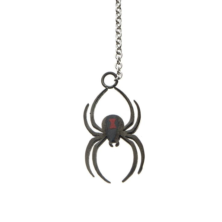 Black widow spider lariat necklace entertainment earth