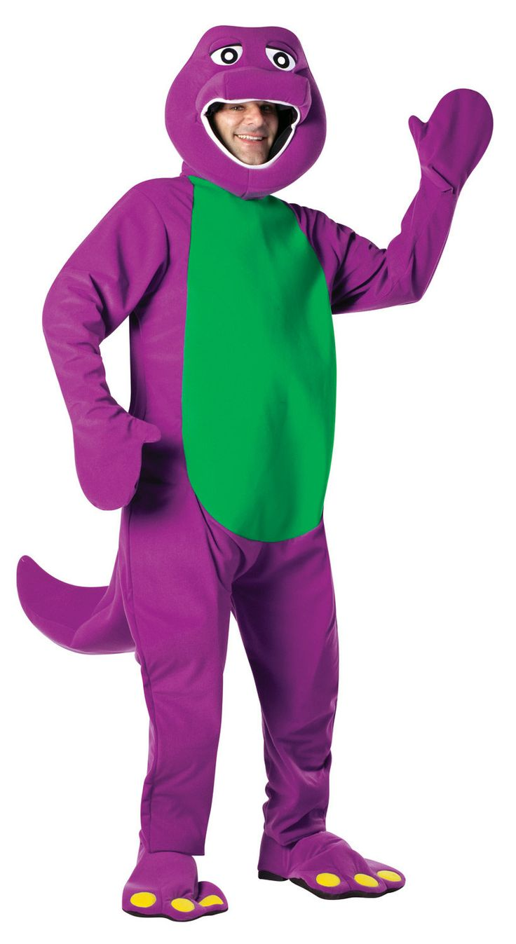 Mens Barney the Dinosaur Adult Costume - Mr. Costumes