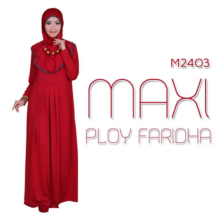 MAXI PLOY FARIDHA 3 WARNA | Warung Muslimah http://warungmuslimah.com/busana-muslim-wanita/gamis/maxi-ploy-faridha-3-warna