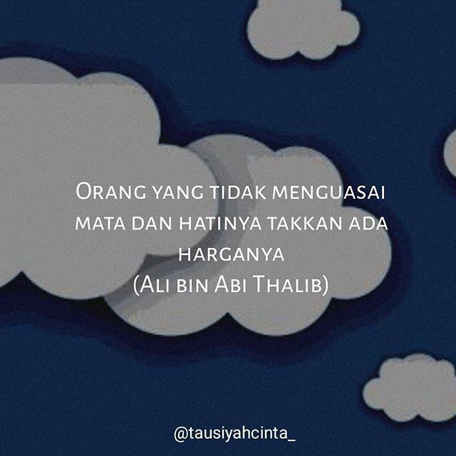 Orang yang tidak menguasai mata dan hatinya takkan ada harganya (Ali bin Abi Thalib) . . Follow @hijrahcinta_ Follow @hijrahcinta_. . . http://ift.tt/2f12zSN