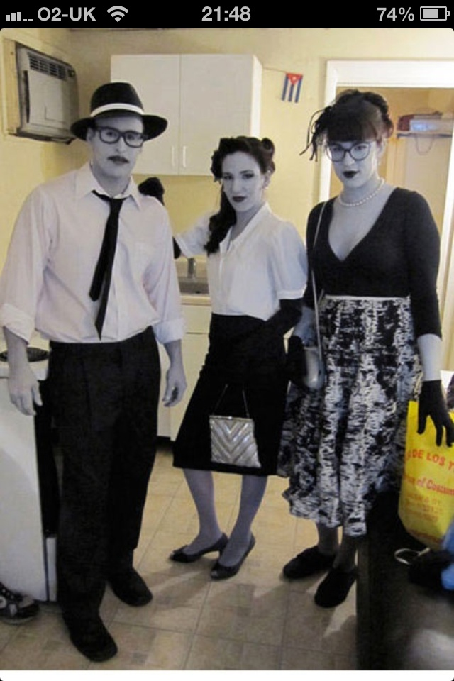 Awesome fancy dress ... Black and white people