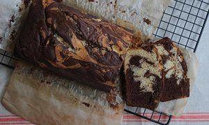Vanilla chocolate marble cake