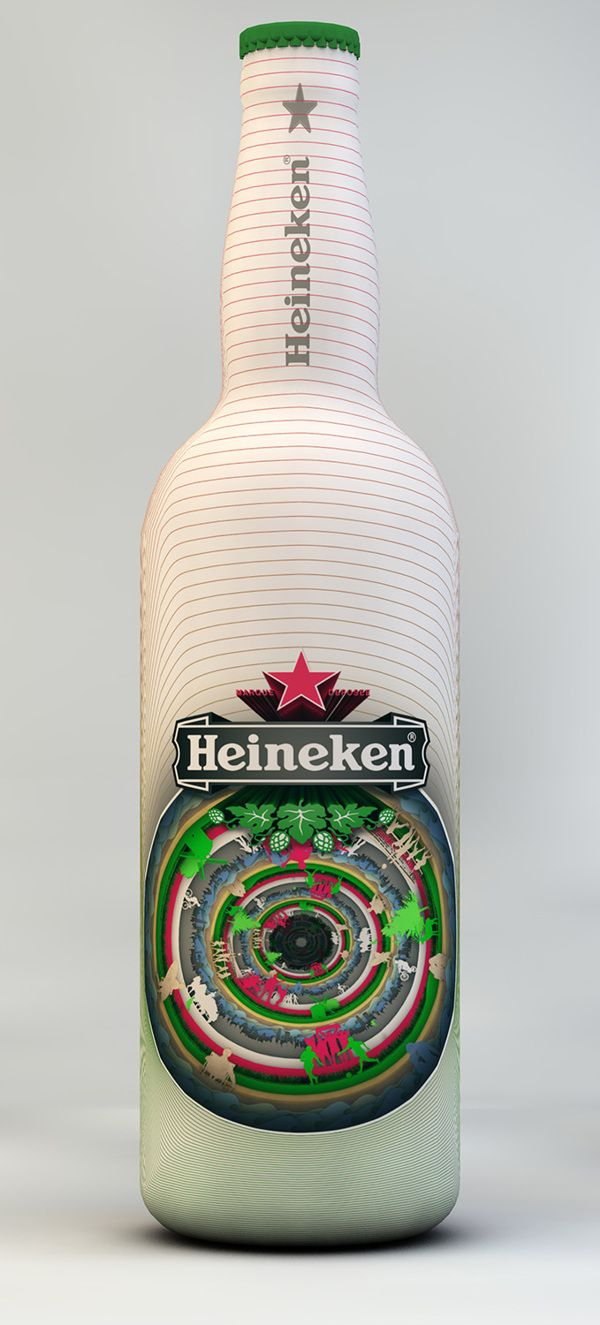 Heineken Bottle Design by Gergő Székely, via Behance