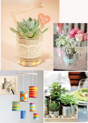 49 best images about maceteros con latas on pinterest for Como decorar una pared grande