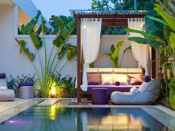 Small inground pools modern patio landscape ideas pergola outdoor furniture
