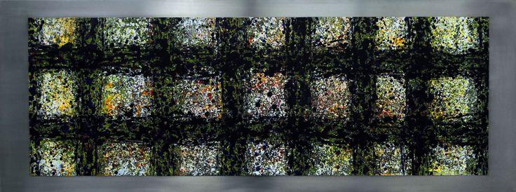 """Pow"" acryl, oel, stahl 60X160 bernhard kaeser 2013, Acryl auf Leinwand ,abstrakte, Kunst, malerei, Leinwand, painting, abstract, bernhard kaeser,"