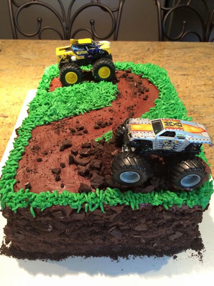 Monster truck cake - 2 years!                                                                                                                                                     More